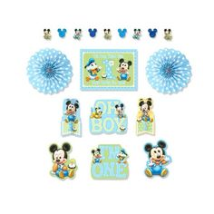 Disney Baby Mickey Mouse 1st Birthday Party Room Decoration Kit