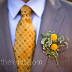 Gray + Yellow Groomsmen Attire, for anyone getting married soon ( Stinson) Yellow Boutonniere, Boutonnieres, Wedding Boutonniere, Wedding Colors, Wedding Flowers, Yellow Grey Weddings, Good Back Workouts, Mellow Yellow, Gray Yellow