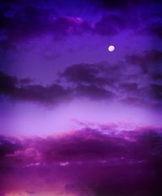 deep purple skies
