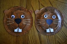 Groundhog Day paper plate craft