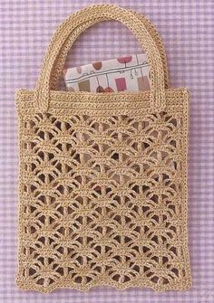 Crochet bags the creative world bags creative crochet world Sacs au crochet - Le monde-creatif - My WordPress Website I love all these types of bags they are showing and whats great are the endless ideas using vintage crocheted items that are are no longe Débardeurs Au Crochet, Crochet Cable, Crochet Shell Stitch, Crochet Tote, Crochet Handbags, Crochet Purses, Crochet Stitches, Crochet Purse Patterns, Crochet Market Bag