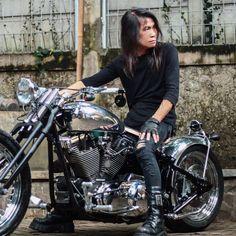 Bildresultat för Custom Bikes Harley Davidson : SAMURAI by Bingky Bikerstation #harleydavidsonchoppersbikes
