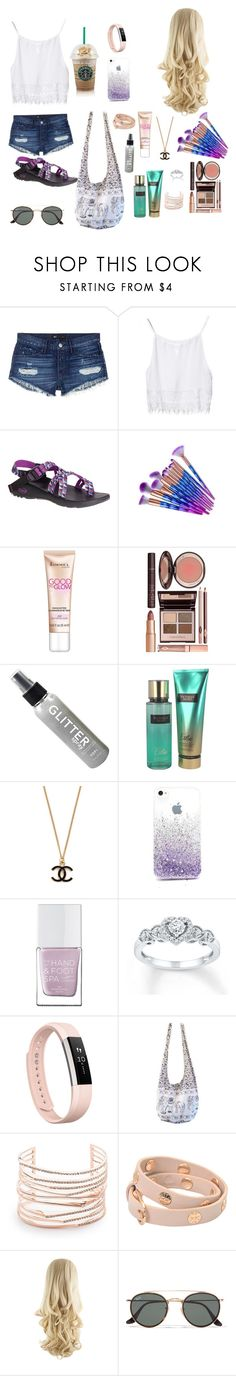 """Cute and Fabulous"" by kayleerae-hoffman ❤ liked on Polyvore featuring 3x1, Chaco, Rimmel, Charlotte Tilbury, Victoria's Secret, The Hand & Foot Spa, Fitbit, Alexis Bittar, Tory Burch and Ray-Ban"