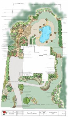 Italian Backyard Design an italian patio for an italian themed garden ideas for garden Big Residential Yard Design A Lot Of Cool Shape And Flowing Curves To Help Take