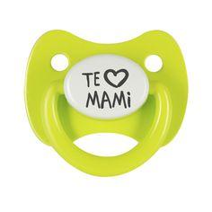 Chupete Te quiero mami, combínalo con el diseño te quiero papi y haz que tu bebé tenga los chupetes más bonitos. #diadelamadre