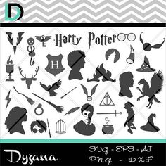 Harry potter svgHarry Potter svg filesSilhouette Cameo