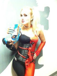 COSPLAY COSTUME Harley Quinn as Worn by Naomi Kyle by glaciermilk, $265.00