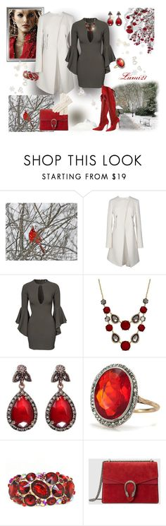 """bell-sleeve dress"" by lumi-21 ❤ liked on Polyvore featuring Nina Ricci, John Zack, INC International Concepts, Gucci and bellsleevedress"