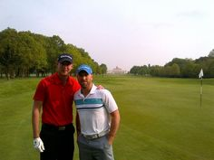 """""""@StuartBroad8: This is a 1st! Celebrating Test win with a game of golf at the lovely @StokePark with @MattPrior13 yfrog.com/kh1jihqj """""""