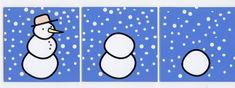 Afbeeldingsresultaat voor logische volgorde sneeuwman