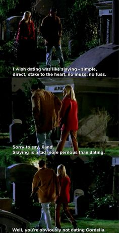Buffy slays, but Xander is dating Cordelia   2x16 Bewitched Bothered and Bewildered
