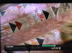 Quilt in Joan Cusack's character's house in the movie In & Out with Kevin Kline from 1997
