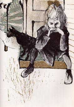 Sam, Bangs  Moonshine - written  illustrated by Evaline Ness (1966)