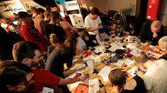 Make Munich 2014 - Soft Circuit Workshop Munich, Circuit, Workshop, Projects, How To Make, Log Projects, Atelier, Blue Prints, Work Shop Garage