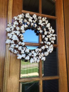20 in Cotton Boll  wreath perfect for fall!