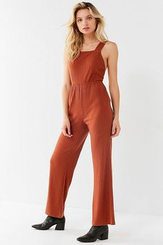 1c98b6ba89017 UO Lita Ribbed Knit Apron Jumpsuit   Urban Outfitters Rompers Women,  Jumpsuits For Women,