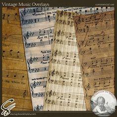 Vintage music scrapbook paper for decorating