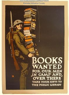 Books Wanted World War I poster, ca. 1918. Item # 15049 on Maine Memory Network