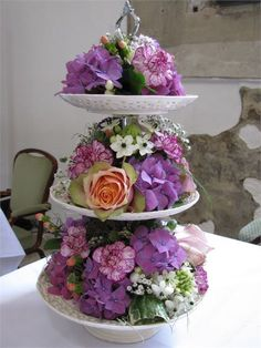 How beautiful is this flower tier?