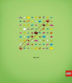 Lego: Words puzzle, Tractor