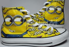 """d6344c233490d2 Ange Lord ( angelordart) on Instagram  """"Minions inspired custom painted  Converse All"""