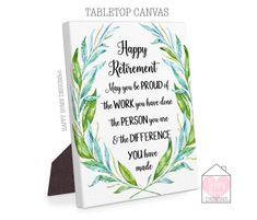 Retirement Gifts, Happy Retirement Sign, For Work Colleague, For Men, Retirement Canvas, Retirement Quote, Retirement Print, Retiring Gifts Retirement Quotes, Happy Retirement, Retirement Cards, Gifts For Surgeons, Godfather Gifts, Godparent Gifts, Going Away Gifts, Farewell Gifts, Work Colleague