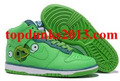check out 31607 d3c56 Sale Green Nike Dunk SB High Top Angry Birds Men Women on the Internet  Shoes 2015