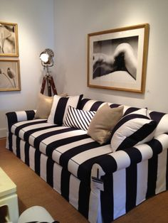 Meredith Heron Design Stripes Black and white