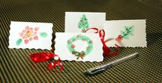 Finger Print Gift tags!   Em would LOVE this!
