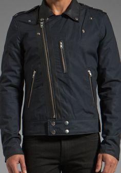 BLK DNM Jacket 50 in Navy Blue Black -