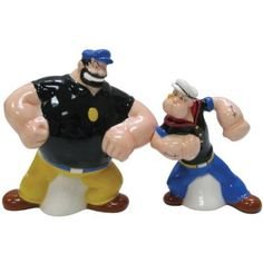 Popeye and Brutus Salt and Pepper Shaker