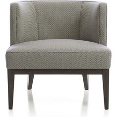Crate & Barrel Grayson Chair ($1,099) ❤ liked on Polyvore featuring home, furniture, chairs, accent chairs, crate and barrel furniture, crate and barrel chairs and crate and barrel