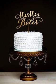 gold custom cake topper