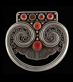 Belt buckle; silver and coral | 900€ ~ sold