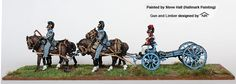 BAV 25 Four horse limber with howitzer, Perry Miniatures