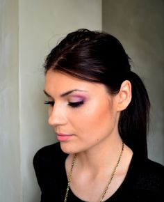 make up fiolety ślubny