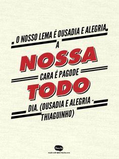 Ousadia E Alegria – Frases Para Facebook – Thiaguinho