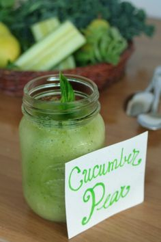 Cucumber Pear Smoothie #smoothies