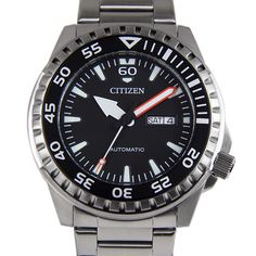 Citizen Automatic Black Dial Stainless Steel Case Mens Day Date Watches Mens Sport Watches, Watches For Men, Watch Sale, Chronograph, Citizen Watches, Stainless Steel, Time Capsule, Bracelets, Accessories
