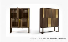 origami cabinet by Massimo Castagna Sideboard Cabinet, Cabinet Furniture, Find Furniture, Unique Furniture, Tall Sideboard, Credenza, Armoire, Console Design, Lounge