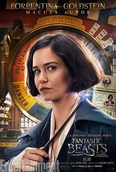 Katherine Waterston as Tina Goldstein #FantasticBeasts
