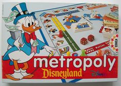 DISNEYLAND METROPOLY Board Game COMPLETE 1993 EUC Mickey Mouse Donald Duck