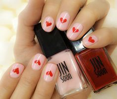 Sweet #Valentine's Day Mani by JINsoon using Muse and Coquette. #SephoraNailspotting