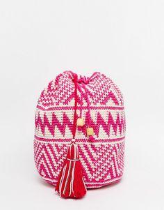 Image 1 ofHiptipico Handmade Crochet with Beaded Tassel Backpack