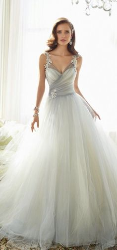 Shop spectacular wedding dresses, bridesmaid dresses, prom dresses & accessories at Davids Bridal. Register today to win a Free Bridal Gown! Stunning Wedding Dresses, Best Wedding Dresses, Wedding Attire, Beautiful Gowns, Bridal Dresses, Wedding Styles, Wedding Gowns, Prom Dresses, Tulle Wedding