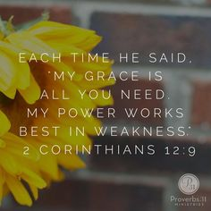 It's okay to be weak, then I can rely on God's strength. When I am weak He shows Himself strong for me.