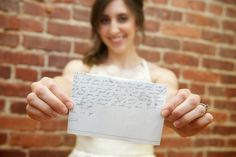 Jamie Montgomery Photography: Wedding Photography, Note from the groom before the ceremony