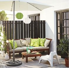 Thinking to create a L shipped couch with branches and then have pillows along the walls in place of chair backs (Saves like $150) IKEA APPLARO outdoor relax furniture