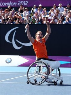 Esther Vergeer- Paralympian Wheelchair Tennis Paralympic Medals (Singles): 4 Gold, 0 Silver, 0 Bronze Paralympic Medals (Doubles): 3 Gold, 1 Silver, 0 Bronze 21 Grand Slam titles  470 consecutive singles matches unbeaten over 10 years. Last Defeat: 30th January 2003 (V Daniella Di Torro [AUS])