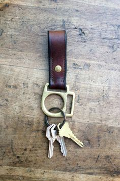 Recycled Horse Tack Keychain, Horse Keychain, Leather Keychain by…